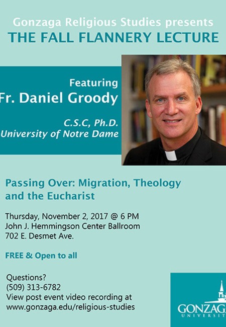 Rev. Dan Groody, C.S.C., will offer lecture at Gonzaga University