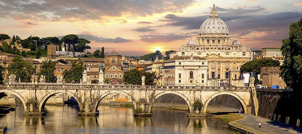 Rome Italy Europe Open Campus River Bridge Main