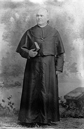 <p><strong>Father William Corby, C.S.C.</strong> Notre Dame's third President and a celebrated Civil War Chaplain of the Union Army's Irish Brigade.</p>